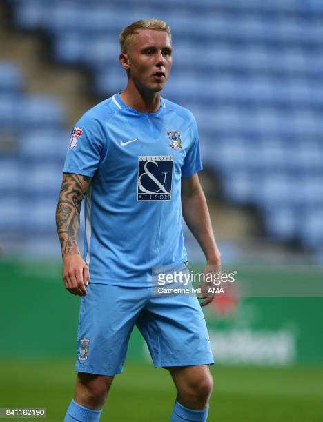 Jack Grimmer of Coventry City during the EFL Checkatrade Trophy match between Coventry City v Shrewsbury Town at Ricoh Arena on August 29 2017 in...