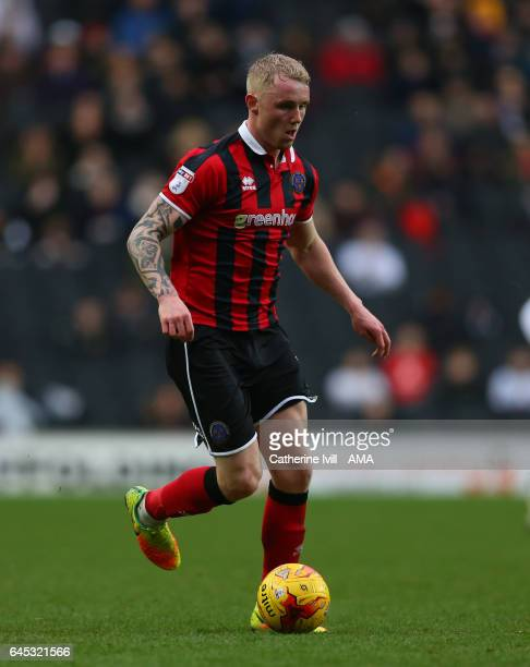 Jack Grimmer of Shrewsbury Town during the Sky Bet League One match between MK Dons and Shrewsbury Town at StadiumMK on February 25 2017 in Milton...