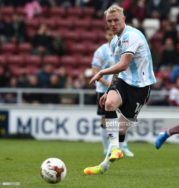 Jack Grimmer of Shrewsbury Town in action during the Sky Bet League One match between Northampton Town and Shrewsbry Town at Sixfields on April 17...