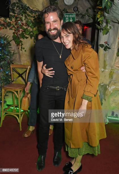 Jack Guinness and Alexa Chung attend the ALEXACHUNG London launch party at The Aviary Bar on May 30 2017 in London England
