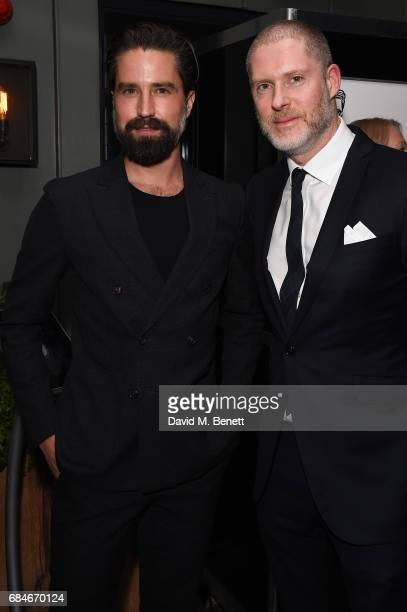 Jack Guinness and Jean David Malat attend the Gentleman's Journal Bermuda 35th America's Cup summer party hosted by Jack Guinness at Ham Yard Hotel...