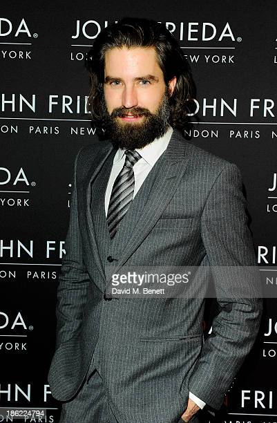 Jack Guinness arrives at the John Frieda party celebrating 25 years of transforming women's hair at Claridges Hotel on October 29 2013 in London...