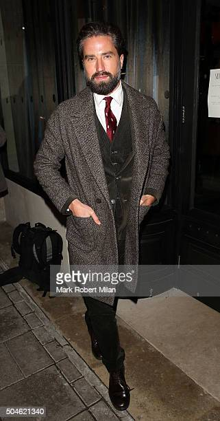 Jack Guinness attending the GQ Closing Dinner London Collections Men Autumn Winter 2016 on January 11 2016 in London England