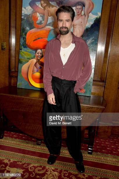Jack Guinness attends the Edward Crutchley show during London Fashion Week Men's January 2020 at Skinners Hall on January 04, 2020 in London, England.