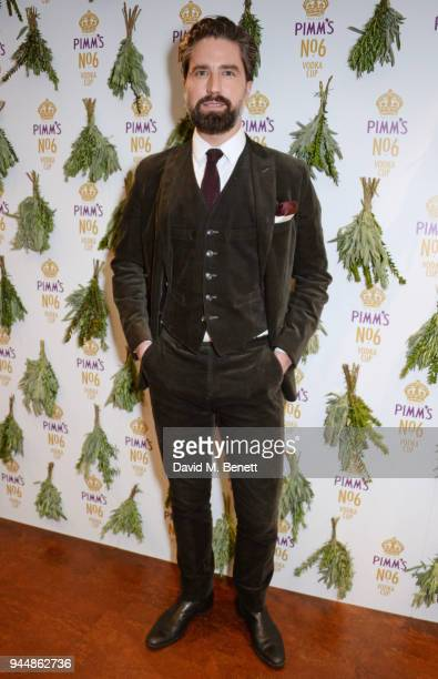 Jack Guinness attends the Pimm's No6 Vodka Cup official launch party at 12 Golden Square on April 11 2018 in London England Pimm's No6 and oysters...