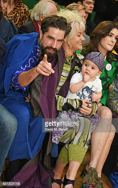 Jack Guinness Jaime Winstone with baby Ray and Sai Bennett attend the Vivienne Westwood show during London Fashion Week Men's January 2017...