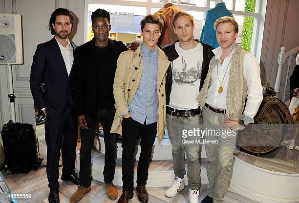 Jack Guinness Nathan StewartJarrett Oliver Cheshire Jack Fox and Henry Conway attend the British Designers Collective Mens Launch at Bicester Village...