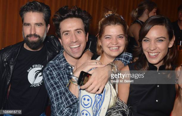 Jack Guinness Nick Grimshaw Pixie Geldof and Alexa Chung attend the Alexa Chung London Fashion Week After Party at American Express Platinum House on...