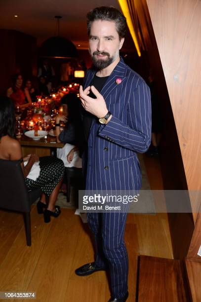 Jack Guinness wearing ALEXACHUNG attends Alexa Chung's CHUNGSGIVING dinner to celebrate Thanksgiving and the launch of her exclusive ALEXACHUNG...
