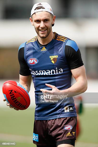 Jack Gunston of the Hawks takes part in a Hawthorn Hawks AFL training session at Waverley Park on September 29, 2015 in Melbourne, Australia.