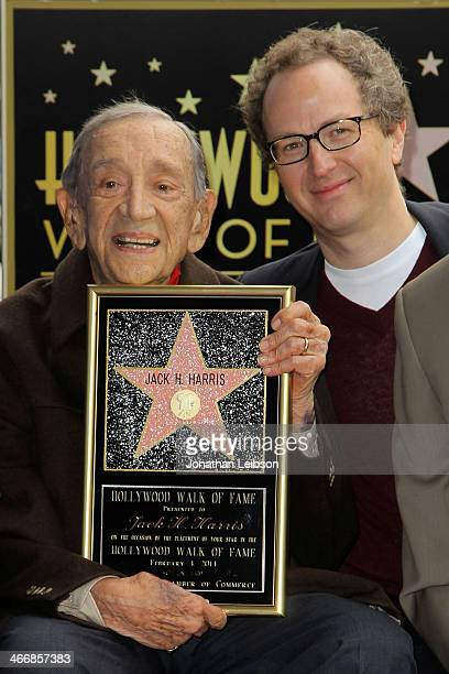 Jack H Harris and Brian Witten attend Film Producer Jack H Harris being honored with Star On The Hollywood Walk Of Fameon February 4 2014 in...