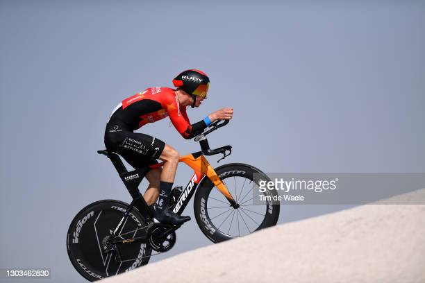 Jack Haig of Australia and Team Bahrain Victorious during the 3rd UAE Tour 2021, Stage 2 a 13km Individual Time Trial from Al Hudayriyat Island to Al...