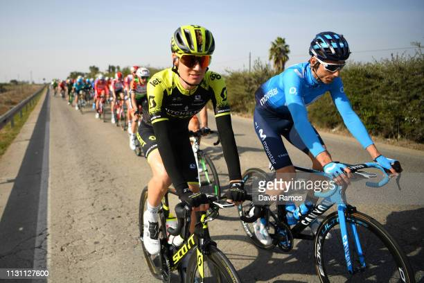 Jack Haig of Australia and Team Mitchelton Scott / Carlos Verona of Spain and Movistar Team / during the 65th Ruta del Sol 2019 Stage 2 a 2165km...