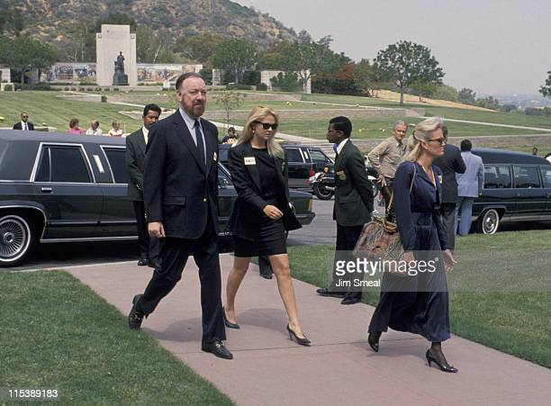 Jack Haley Jr and Cornelia Guest during Funeral of Sammy Davis Jr at Forest Lawn Memorial Park in Los Angeles California United States