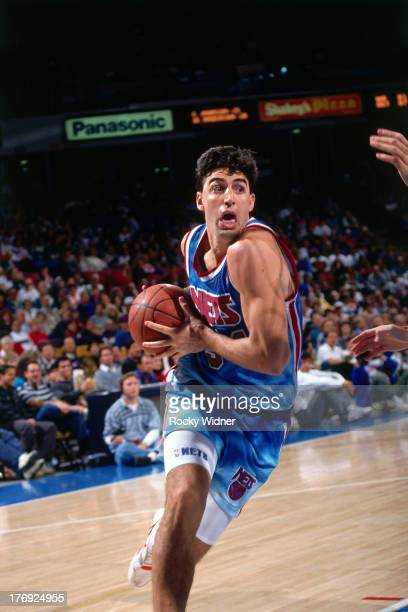 Jack Haley of the New Jersey Nets dribbles the ball against the Sacramento Kings on January 28 1991 at Arco Arena in Sacramento California NOTE TO...