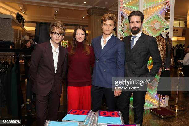 ÊÊ Jack Hall Maria Milano Oliver Chesire and Jack Guinness attend the Dolce Gabbana Italian Christmas Millennial Book Signing at Harrods on November...