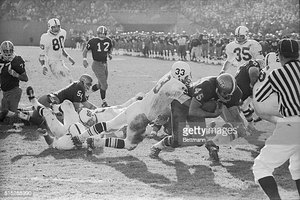 Jack Ham plays for Pennsylvania State University in 1969 A player for University of Pittsburgh drags Jack Ham with him as he scores touchdown