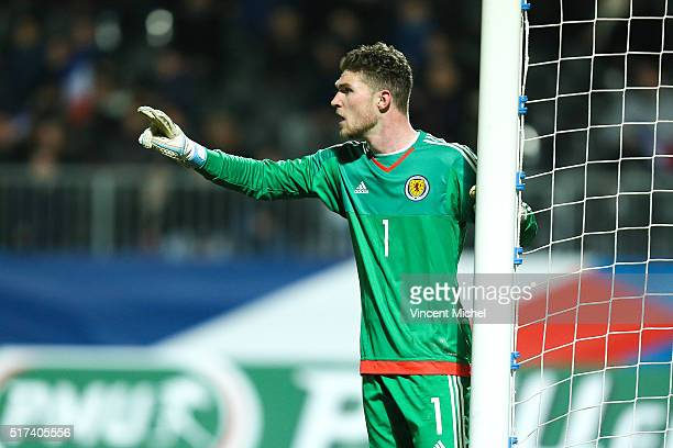 Jack Hamilton of Scotland during the Uefa U21 European Championship qualifier between France and Scotland at Stade Jean Bouin on March 24 2016 in...