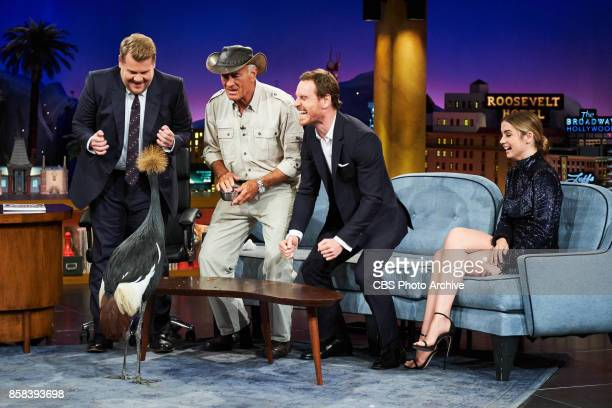 Jack Hanna Ana De Armas and Michael Fassbender chat with James Corden during The Late Late Show with James Corden Thursday October 5 2017 On The CBS...