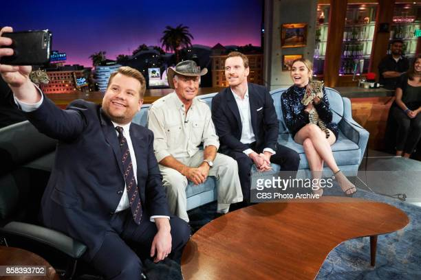 Jack Hanna Ana De Armas and Michael Fassbender chat with James Corden during 'The Late Late Show with James Corden' Thursday October 5 2017 On The...