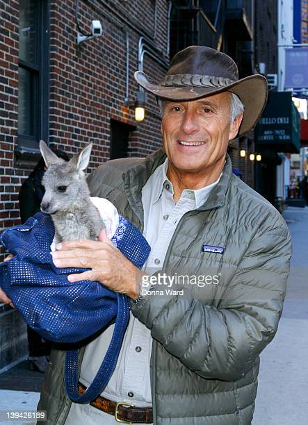 """Jack Hanna arrives for """"The Late Show with David Letterman"""" at Ed Sullivan Theater on February 20, 2012 in New York City."""