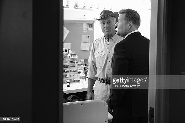 """Jack Hanna backstage with James Corden during """"The Late Late Show with James Corden,"""" Thursday, Sept. 22nd On The CBS Television Network."""