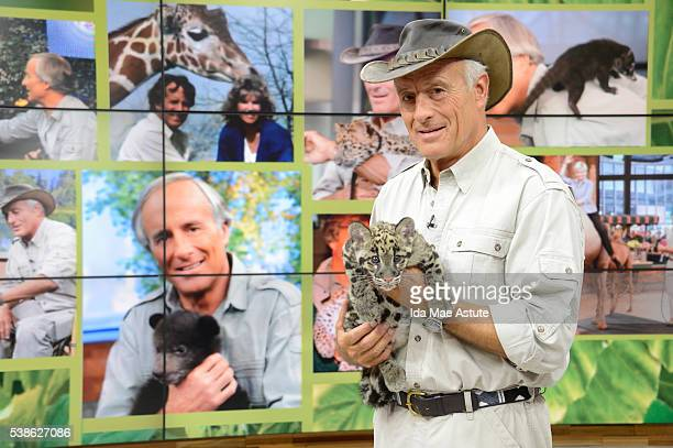 Jack Hanna brings an assortment of baby animals from the Columbus Zoo to GOOD MORNING AMERICA, 6/7/16, airing on the Walt Disney Television via Getty...