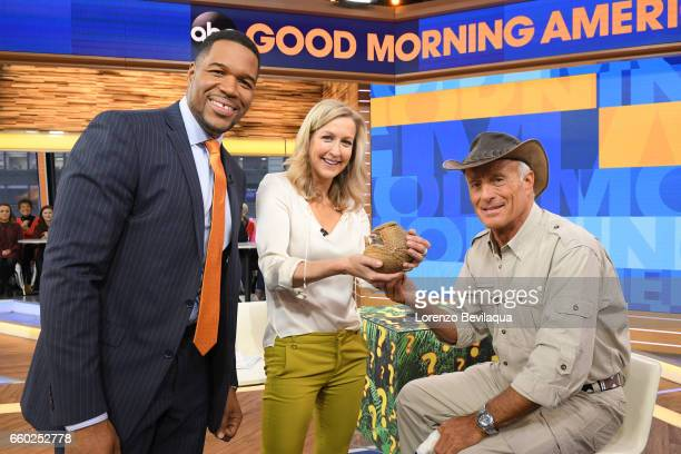 """Jack Hanna brings animals from the Columbus Zoo to """"Good Morning America,"""" Wednesday, March 29 airing on the Walt Disney Television via Getty Images..."""