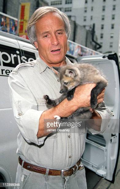 """Jack Hanna during Jack Hanna Arrives at the """"Late Show With David Letterman"""" - May 17, 2001 at The Ed Sullivan Theater in New York City, New York,..."""