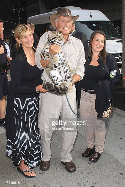 Jack Hanna wife Suzi Egli and daughter Julie Hanna are seen arriving at theLate Show With David Letterman at the Ed Sullivan Theater on September 27...