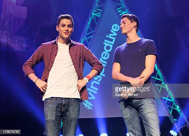 Jack Harries and Finn Harries attend vInspired Live a youth social change event at The Roundhouse on July 6 2013 in London England