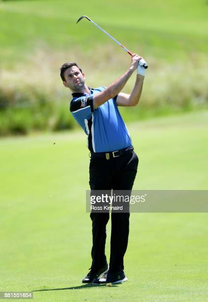 Jack Harrison of England in action during a practice round prior to the AfrAsia Bank Mauritius Open at Heritage Golf Club on November 29 2017 in Bel...