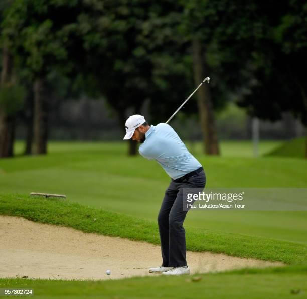 Jack Harrison of England plays a shot during round three of the 2018 AB Bank Bangladesh Open at Kurmitola Golf Club on May 11 2018 in Dhaka Bangladesh