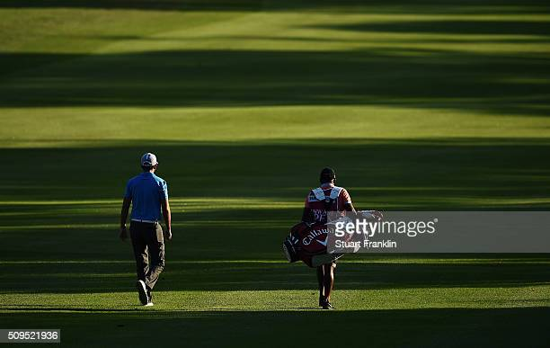 Jack Harrison of England walks down the fairway during the first round of the Tshwane Open at Pretoria Country Club on February 11 2016 in Pretoria...