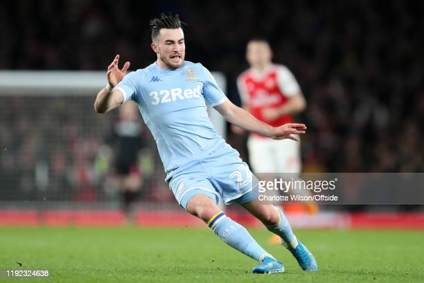 Jack Harrison of Leeds during the FA Cup Third Round match between Arsenal and Leeds United at Emirates Stadium on January 6 2020 in London England