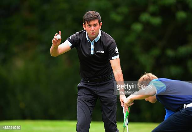 Jack Harrison of Wildwood Golf and Country Club celebrates making a birdie putt during the Galvin Green PGA Assistants' Championship Day 3 at...