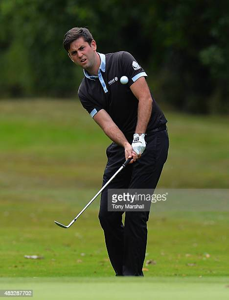 Jack Harrison of Wildwood Golf and Country Club chips on to the 4th green during the Galvin Green PGA Assistants' Championship Day 3 at Coventry Golf...