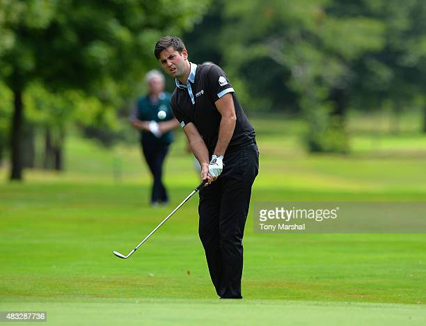 Jack Harrison of Wildwood Golf and Country Club chips on to the 6th green during the Galvin Green PGA Assistants' Championship Day 3 at Coventry Golf...