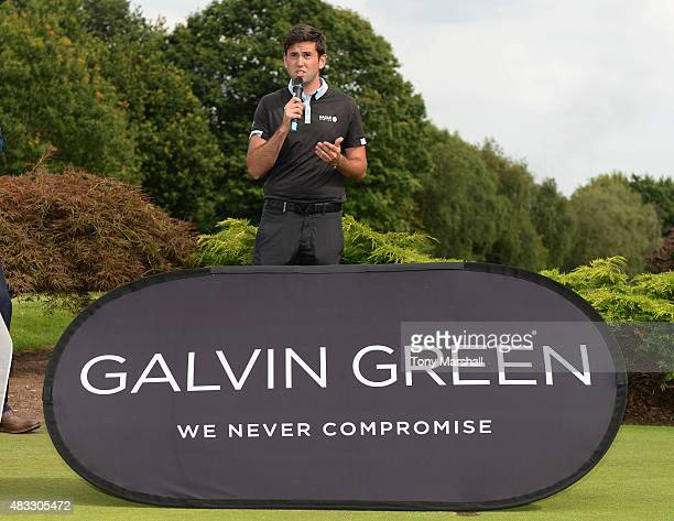Jack Harrison of Wildwood Golf and Country Club gives his winner speech during the Galvin Green PGA Assistants' Championship Day 3 at Coventry Golf...