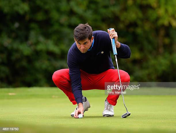 Jack Harrison of Wildwood Golf and Country Club lines up his putt on the 4th green during the Galvin Green PGA Assistants' Championship Day 2 at...