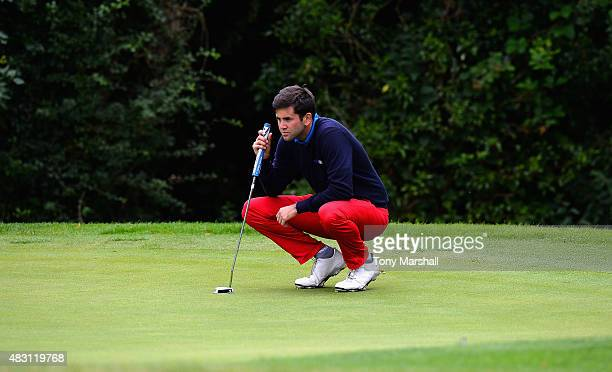 Jack Harrison of Wildwood Golf and Country Club lines up his putt on the 3rd green during the Galvin Green PGA Assistants' Championship Day 2 at...