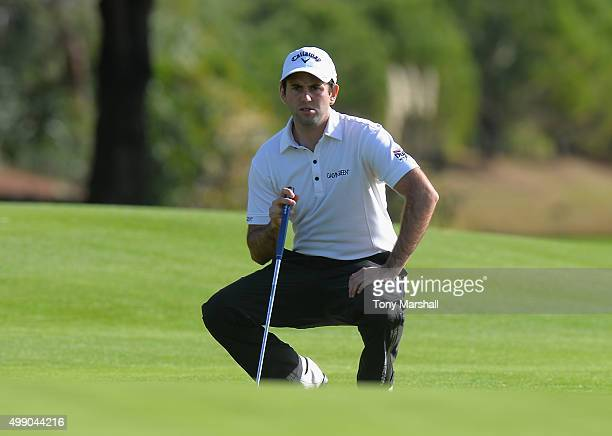 Jack Harrison of Wildwood Golf and Country Club lines up his putt on the 18th green during the second round of the PGA PlayOffs at Antalya Golf Club...