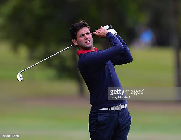 Jack Harrison of Wildwood Golf and Country Club plays his first shot on the 5th tee during the Galvin Green PGA Assistants' Championship Day 1 at...