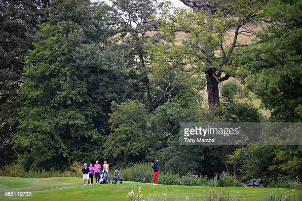 Jack Harrison of Wildwood Golf and Country Club plays his first shot on the 3rd tee during the Galvin Green PGA Assistants' Championship Day 2 at...