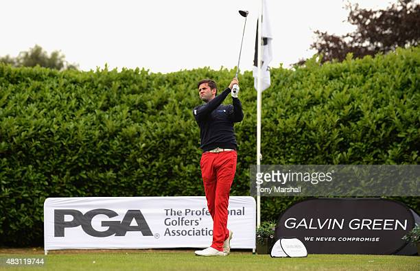 Jack Harrison of Wildwood Golf and Country Club plays his first shot on the 1st tee during the Galvin Green PGA Assistants' Championship Day 2 at...
