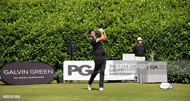 Jack Harrison of Wildwood Golf and Country Club plays his first shot the 1st tee during the Galvin Green PGA Assistants' Championship Day 3 at...