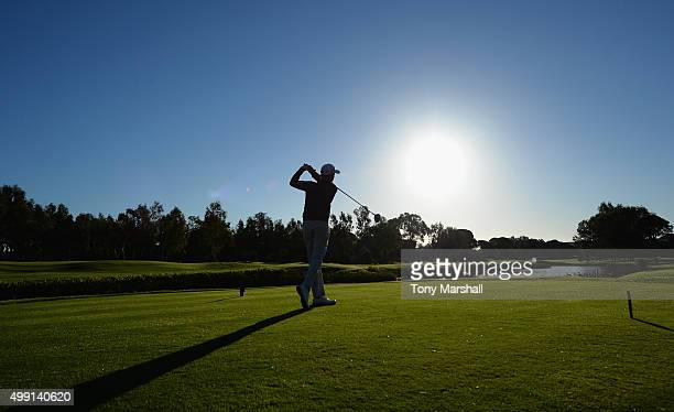 Jack Harrison of Wildwood Golf and Country Club plays his first shot on the 1st tee during the thrd round of the PGA Play Offs at Antalya Golf Club...