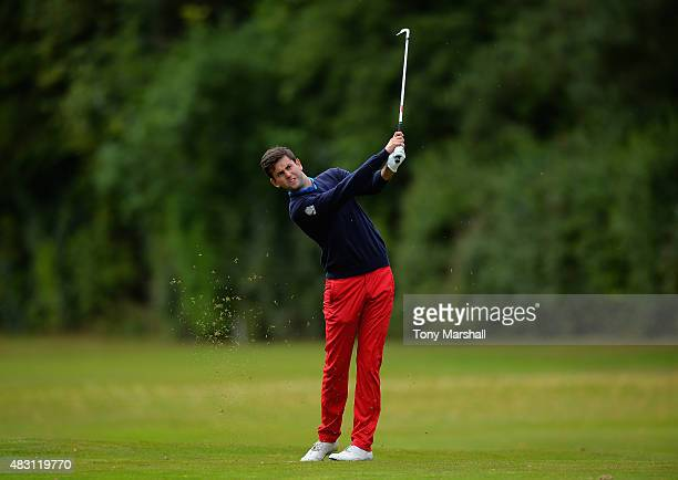 Jack Harrison of Wildwood Golf and Country Club plays his second shot on the 4th fairway during the Galvin Green PGA Assistants' Championship Day 2...