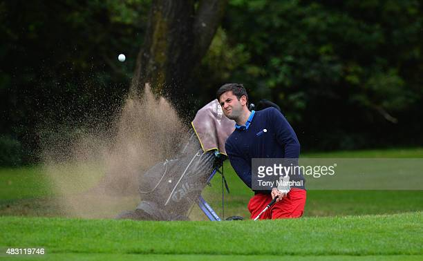 Jack Harrison of Wildwood Golf and Country Club plays out of a bunker on to the 5th green during the Galvin Green PGA Assistants' Championship Day 2...