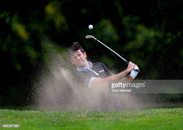 Jack Harrison of Wildwood Golf and Country Club plays out of a bunker onto the 7th green during the Galvin Green PGA Assistants' Championship Day 3...